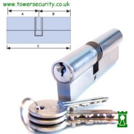 Asec Double Euro Profile Cylinder 90mm