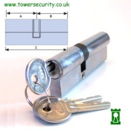 Asec Double Euro Profile Cylinder 80mm