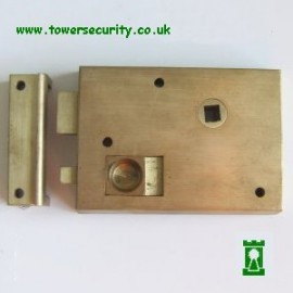 B106 Brass Rim Latch 4 1/4 RH