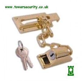 187SP Brass Locking Door Chain